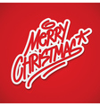 Merry Christmas label lettering card vector image vector image