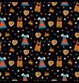 oktoberfest seamless pattern background vector image