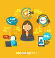 online support composition vector image