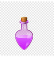 pink flask icon cartoon style vector image