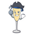 pirate champagne character cartoon style vector image vector image