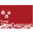 red Christmas vector image vector image