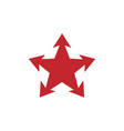 red star icon image vector image vector image