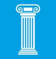 Roman column icon white