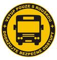 safe distance bus circle czech vector image vector image