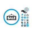 Sale Label Flat Icon With Bonus vector image vector image