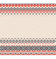 Scandinavian or Russian style knitted background vector image vector image