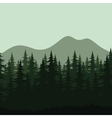 Seamless mountain landscape forest silhouettes vector image vector image