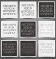 set handwritten english alphabets vector image vector image