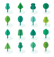 Set of different kinds of trees geometric icons vector image vector image