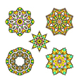 set of five abstract ornament sacred mandala vector image vector image