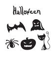 Set of Halloween characters for desigen vector image