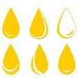 set of oil drops vector image