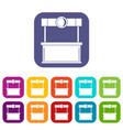 shopping counter icons set flat vector image vector image