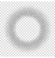 silver circle glitter frame confetti dots round vector image vector image