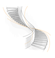 sketch of a spiral staircase vector image vector image