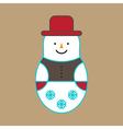 Snowman Ornament vector image vector image