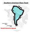 southern american track road vector image vector image