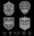Special forces patch emblem set vector image