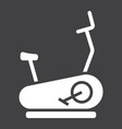 stationary bicycle glyph icon fitness and sport vector image vector image