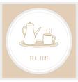 Tea time4 vector image