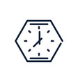 time analog polygon clock linear design vector image