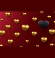 valentines day holiday background with 3d vector image vector image