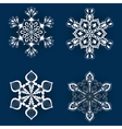 vintage snowflake set in entangle style white vector image