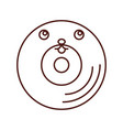 vinyl old music kawaii character vector image vector image