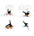 dance grunge set vector image
