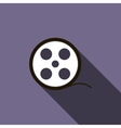 Film reel icon in flat style vector image