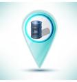 glossy oil barrel Icon Button design element on a vector image