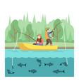 outdoor summer activities fishing sport vector image