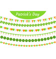 st patrick s day garland set festive decorations vector image