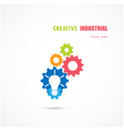 abstract industrial logo design vector image vector image