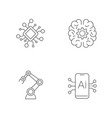 ai robotics artificial intelligence icon set vector image vector image