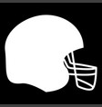 american football helmet the white color icon vector image vector image