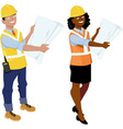 architects or contractors vector image