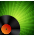 Background with vinyl record vector image vector image