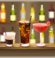 bar cocktails set composition vector image vector image