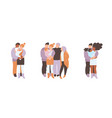 big and small families father mother vector image vector image