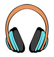 big headphones icon cartoon vector image vector image