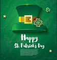 bright and festive banner for saint patricks day vector image vector image