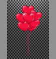 bunch of heart balloon vector image