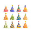cap party set festive cone for birthday party vector image vector image
