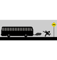 Chasing The Bus vector image