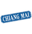 Chiang mai blue square grunge retro style sign vector image vector image