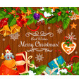 christmas celebration wish greeting card vector image