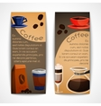 Coffee banners set vector image vector image