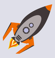 comic rocket vector image